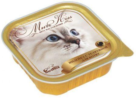 МуррКисс - Консервы для кошек Индейка с телятиной для котят ламистер 100 гр