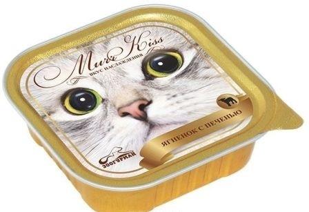 МуррКисс - Консервы для кошек Ягненок с печенью ламистер 100 гр