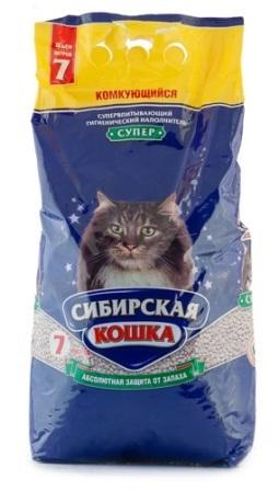 Сибирская Кошка - Наполнитель для кошек Супер 7 л (комкующийся)
