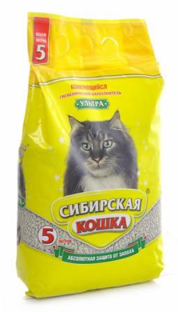 Сибирская Кошка - Наполнитель для кошек Ультра 7 л (комкующийся)