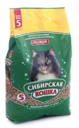 Сибирская Кошка - Наполнитель для кошек Лесной 5 л (древесный)