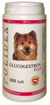 Polidex Glucogextron Plus (Полидекс Глюкогекстрон Плюс) - Витаминная добавка для собак лечение суставов и восстановление хрящевой ткани 500 таб.