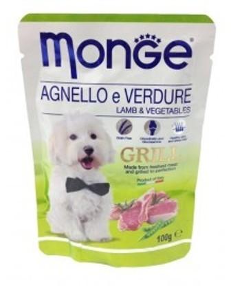 Monge Dog Grill (Монж Дог Гриль) - Паучи для собак ягненок с овощами 100 г