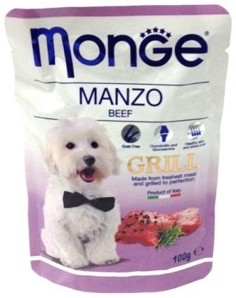 Monge Dog Grill (Монж Дог Гриль) - Паучи для собак говядина 100 г