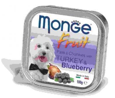 Monge Dog Fruit (Монж Дог Фрут) - Консервы для собак индейка с черникой 100 г