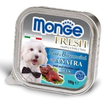 Monge Dog Fresh (Монж Дог Фреш) - Консервы для собак утка 100 г