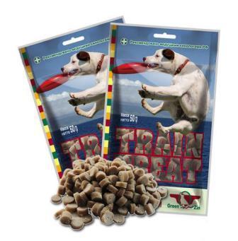 Green Qzin (Грин Кьюзин) - Лакомство для дрессуры собак №1 50 гр (утка с тунцом)