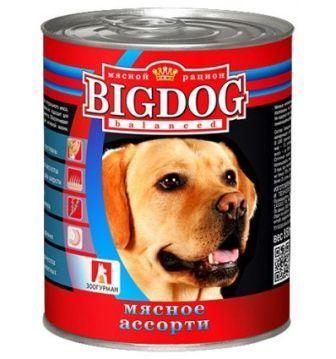 BIG DOG (Биг Дог) - Консервы для собак Мясное ассорти 850 гр