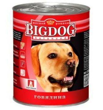 BIG DOG (Биг Дог) - Консервы для собак Говядина 850 гр