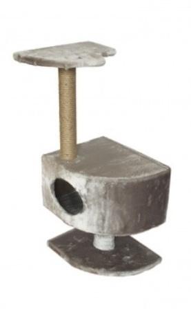 Чип - Домик-когтеточка угловой на ножке (столбик джут, 43*35 см, высота 93 см)
