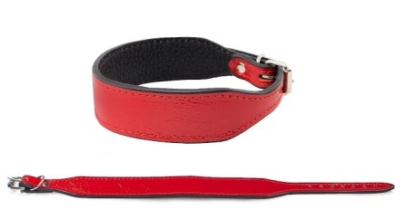Дарэлл - Ошейник Брайт 2-х слойный фигурный красный 20-26 см