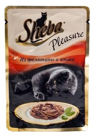 Sheba Pleasure (Шеба Плежер) - Паучи для кошек телятина-язык 85 гр