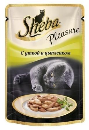 Sheba Pleasure (Шеба Плежер) - Паучи для кошек утка-цыпленок 85 гр