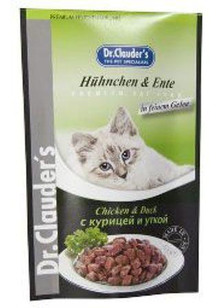 Dr. Clauder's (Др. Клаудер'с) - Паучи для кошек с курицей и уткой 100 гр