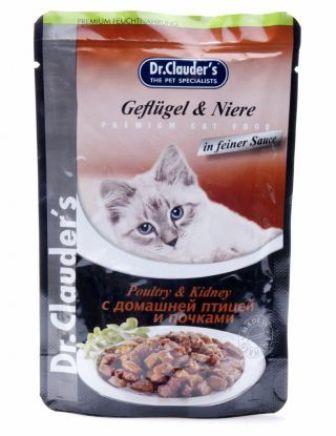 Dr. Clauder's (Др. Клаудер'с) - Паучи для кошек с домашней птицей и почками 100 гр