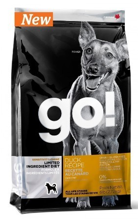 Go!Natural! Sensitivity Duck Dog Recipe 24/12 (Гоу!Нэтурал! Сенситив Дак Дог Ресайп 24/12 ) - Корм для собак всех пород и возрастов (с уткой беззерновой, без картофеля) 5,44 кг