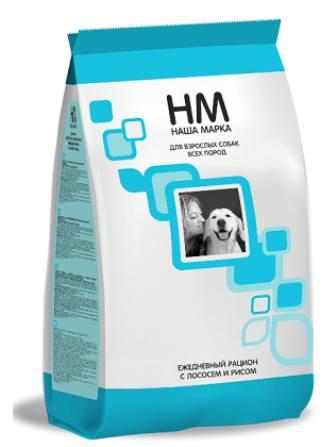 Наша Марка - Сухой корм для взрослых собак гипоаллергенный (лосось с рисом) 15 кг