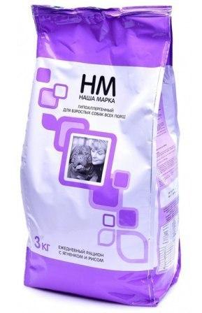 Наша Марка - Сухой корм для взрослых собак гипоаллергенный (ягненок с рисом) 3 кг