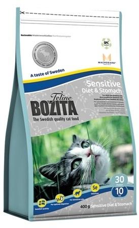 Bozita Super Premium (Бозита Супер Премиум) - Сухой корм для взрослых кошек с чувствительным пищеварением с курицей, лосем, овсом и рисом 0,4 кг