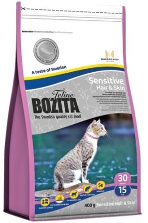 Bozita Super Premium (Бозита Супер Премиум) - Сухой корм для взрослых кошек для здоровой кожи и шерсти с курицей, лососем и рисом 0,4 кг