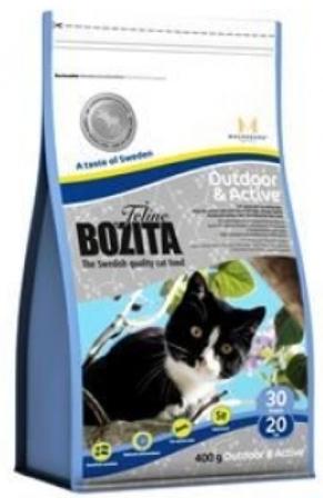 Bozita Super Premium (Бозита Супер Премиум) - Сухой корм для взрослых активных кошек с курицей, лосем, рисом 0,4 кг
