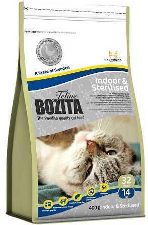 Bozita Super Premium (Бозита Супер Премиум) - Сухой корм для взрослых домашних и стерилизованных кошек с курицей и рисом 0,4 кг