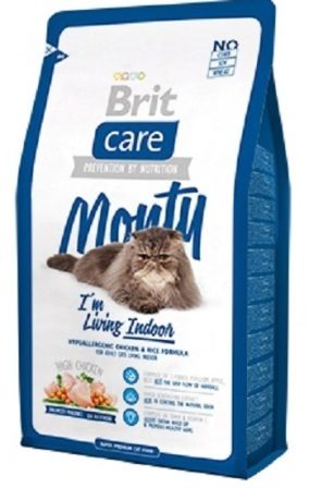 Brit Care Cat Indoor (Брит Кеар Кэт Индор) - Сухой корм для кошек, живущих в квартире 0,4 кг (цыпленок с рисом)