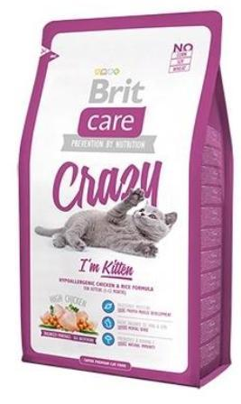 Brit Care Crazy Kitten (Брит Кеар Крейзи Киттен) - Сухой корм для котят, беременных и кормящих кошек с курицей 0,4 кг (цыпленок с рисом)