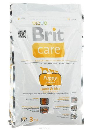 Brit Care Puppy All Breed (Брит Кеар Паппи Ол Брид) - Корм для щенков всех пород 1 кг (ягненок)