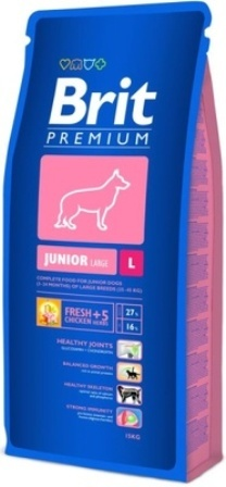 Brit Premium Junior Large Breed (Брит Премиум Юниор Лардж Брид) - Корм для щенков крупных пород 15 кг