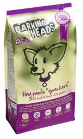 Barking Heads Quackers Mini (Баркинг Хэдз Квакерс Мини) - Корм для собак мелких пород (БЕЗЗЕРНОВОЙ, с уткой и бататом) 4 кг