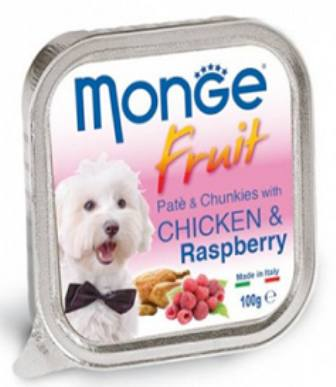Monge Dog Fruit (Монж Дог Фрут) - Консервы для собак курица с малиной 100 г