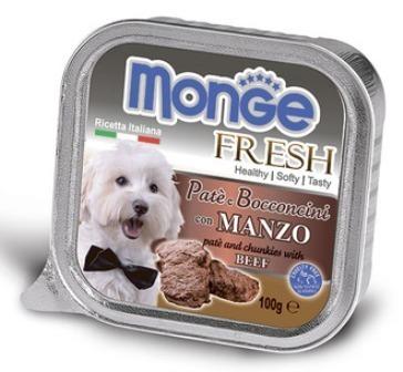 Monge Dog Fresh (Монж Дог Фреш) - Консервы для собак говядина 100 г