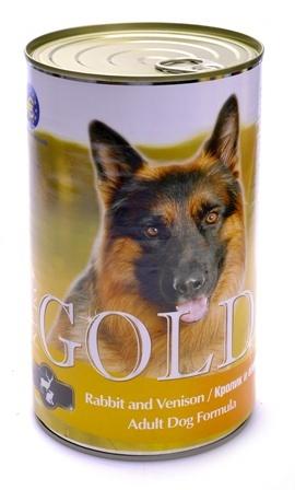 Nero Gold Super Premium (Неро Голд Супер Премиум) - Консервы для собак Кролик и оленина 1,25 кг
