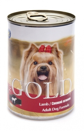 Nero Gold Super Premium (Неро Голд Супер Премиум) - Консервы для собак Свежий ягненок 0,41 кг