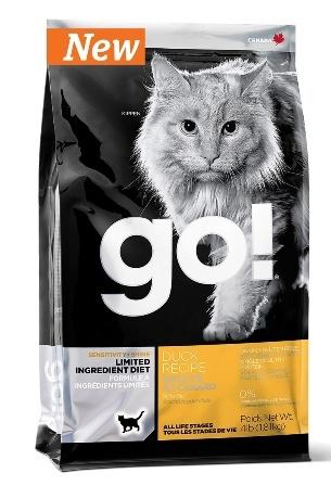 Go!Natural! Sensitivity Grain Free Duck Cat Recipe 31/15 (Гоу!Нэтурал! Сенситив Грейн Фри Дак Ресайп 31/15) - Корм для кошек всех пород и возрастов (БЕЗЗЕРНОВОЙ, утка) 1,82 кг