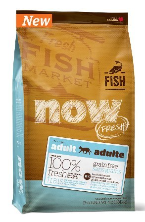 Now!Fresh! Grain Free Adult Cat Fish Recipe 30/19 (Нау!Фреш! Грейн Фри Эдалт Кэт Фиш Ресайп 30/19) - Корм для взрослых кошек всех пород (БЕЗЗЕРНОВОЙ, форель, лосось и сельдь) 7,26 кг