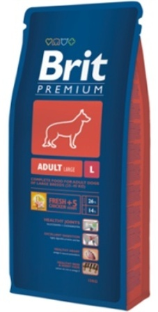 Brit Premium Adult Large Breed (Брит Премиум Эдалт Лардж Брид) - Корм для собак крупных пород 15 кг