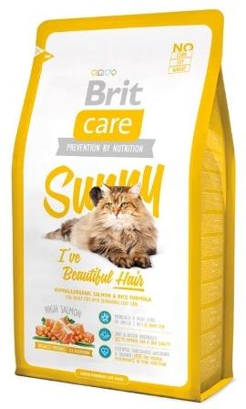 Brit Care Cat Beautiful Hair (Брит Кеар Кэт Бьютифул Хеар) - Сухой корм для кошек, для ухода за кожей и шерстью 2 кг (лосось и цыпленок с рисом)