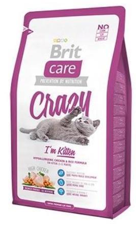 Brit Care Crazy Kitten (Брит Кеар Крейзи Киттен) - Сухой корм для котят, беременных и кормящих кошек с курицей 7 кг (цыпленок с рисом)