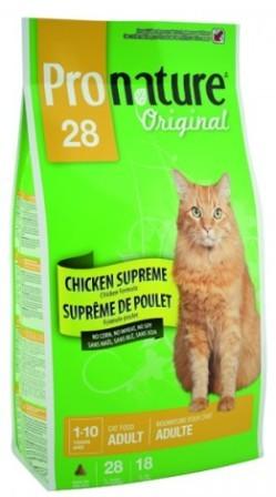 Pronature Adult Cat 28 (Пронатюр Эдалт Кэт 28) - Корм для взрослых кошек (цыпленок) 5 кг