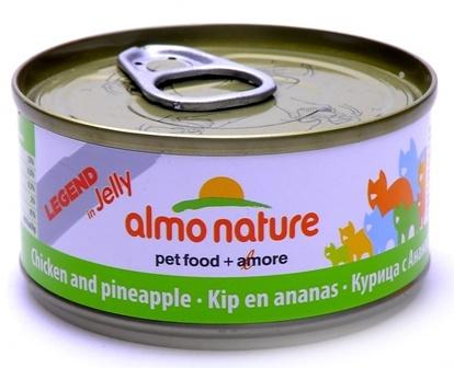 Almo Nature Legend Adult Cat Chicken&Pineapple (Алмо Натюр Легенд Эдалт Кэт Чикен энд Пайнэппл) - Консервы для взрослых кошек курицей и ананасом 70 гр