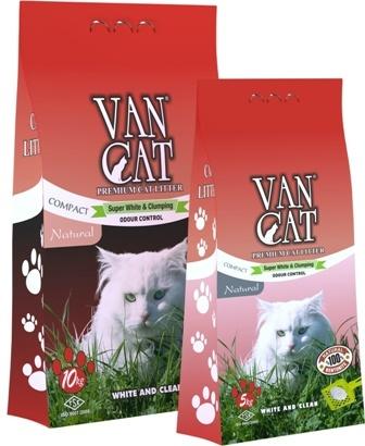 VanCat (ВанКэт) - Комкующийся наполнитель бентонитовый, с ароматом детской присыпки, без пыли 5 кг