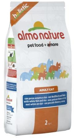 Almo Nature Adult Cat White Fish&Rice (Алмо Натюр Эдалт Кэт Уайт Фиш энд Райс) - Cухой корм для взрослых кошек всех пород (белая рыба с коричневым рисом) 0,4 кг