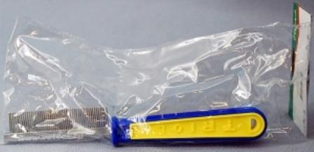 Triol (Триол) - Расческа с частыми зубьями c пластиковой ручкой (20 см)