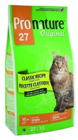 Pronature Cat Light/Senior 27 (Пронатюр Кэт Лайт/Сеньор 27) - Корм для кошек облегченный для худеющих и пожилых кошек 2,72 кг
