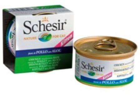 Schesir (Шезир) - Консервы для котят с цыпленком и алое 85 гр
