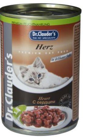 Dr. Clauder's (Др. Клаудер'с) - Консервы для кошек Кусочки в соусе - Сердце 415 гр