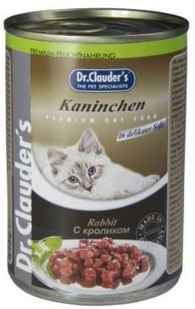 Dr. Clauder's (Др. Клаудер'с) - Консервы для кошек Кусочки в соусе - Кролик 415 гр