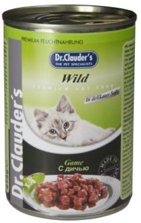 Dr. Clauder's (Др. Клаудер'с) - Консервы для кошек Кусочки в соусе - Дичь 415 гр
